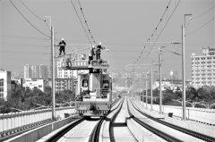 穗莞深城际铁路高架区段电气化施工基本完毕